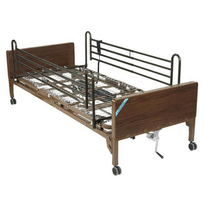 Drive Medical Semi Electric Bed With Full Rails - Drive Medical