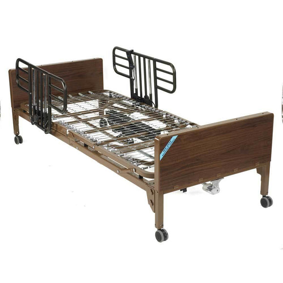 Drive Medical Semi Electric Bed With Half Rails - Drive Medical