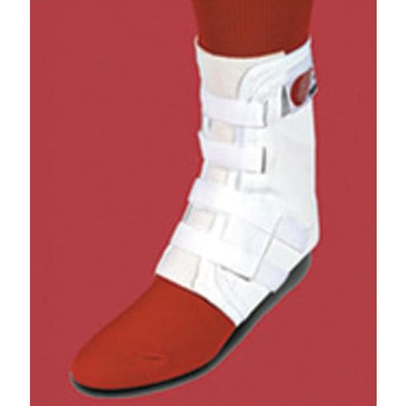 Easy Lok Ankle Brace Sm White Woven Tongue W/ Stabilizers - Ankle Braces & Supports
