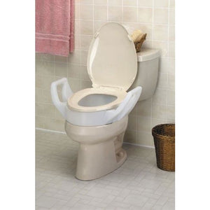 Elevated Toilet Seat W/arms Standard 19 Wide - Raised Toilet Seat