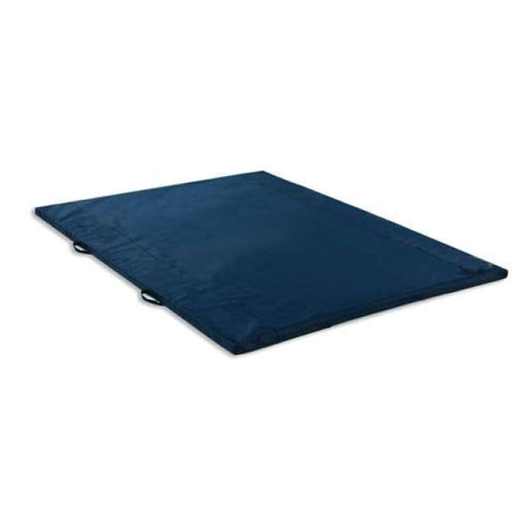 Exercise Mat 2 Thick Navy W/handles Non-Folding 4 X 8 - Exercise Mats