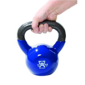 Kettlebell Vinyl Coated Weight Black 20Lb 10 - Dumbell Weights