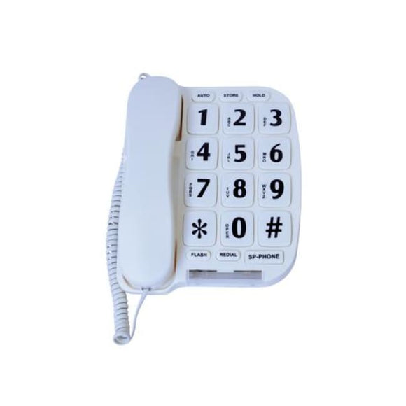 Large Button Telephone W/speaker Phone & Voice Amp - Visual & Hearing Impaired Aids
