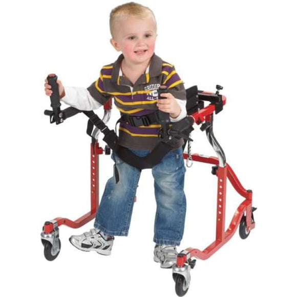 Luminator Posterior Gait Trainer Pediatric Red - Walkers - Safety Rollers
