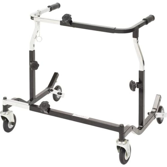 Pediatric Anterior Safety Roller Black Adj Width - Walkers - Safety Rollers
