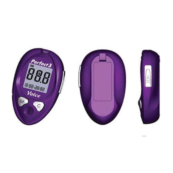 Perfect 3 Talking Glucometer - Glucometers/accessories
