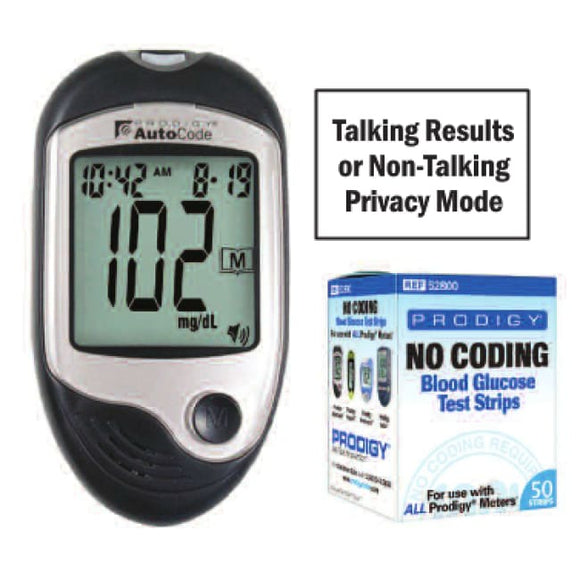 Prodigy Autocode Talking Meter Kit - Glucometers/accessories