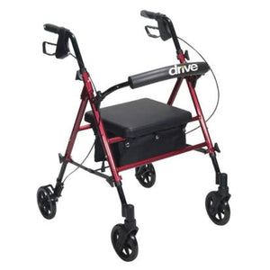 Rollator Aluminum W/adj. Seat Height Blue - Rollators