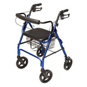 Rollator Walkabout Contour Deluxe 4 Wheel Royal Blue - Rollators
