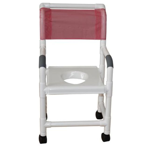 Shower Seat With Full Support Snap-On Seat - Bedside Commodes