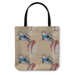 Tote Bag Angels With Wings Pattern - Tote Bag