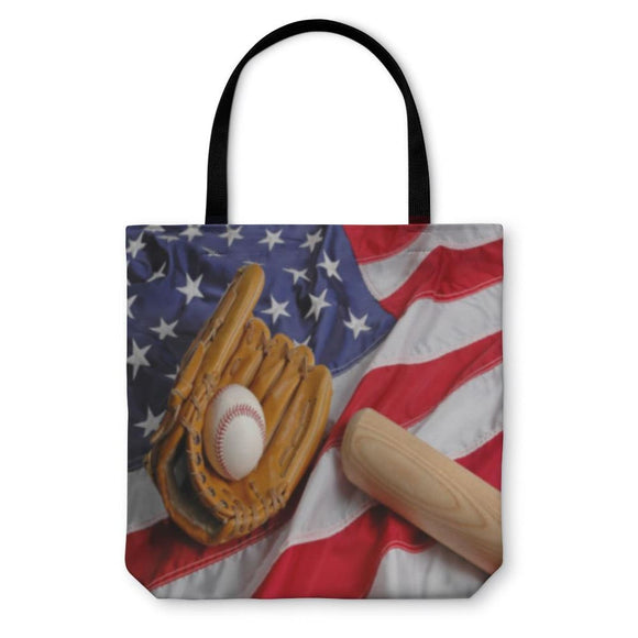 Tote Bag Baseball In America - Tote Bag