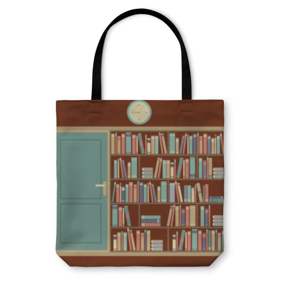 Tote Bag Bookcase In Reading Room - Tote Bag