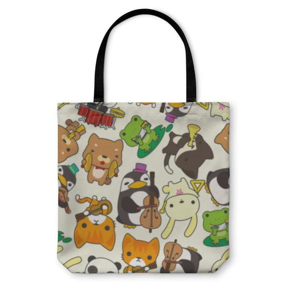 Tote Bag Cartoon Animal Pattern - Tote Bag