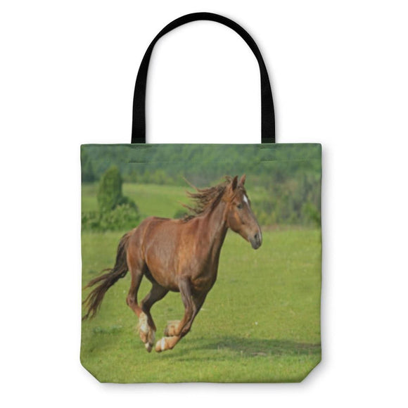 Tote Bag Horse Hurrying At A Gallop - Tote Bag