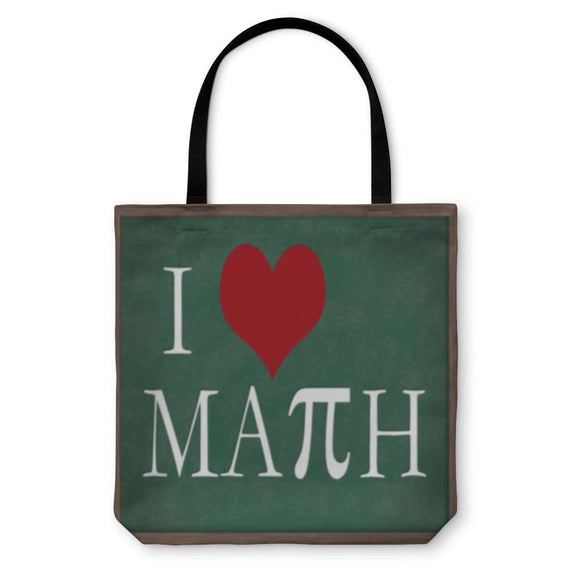 Tote Bag I Love Math Chalkboard - Tote Bag