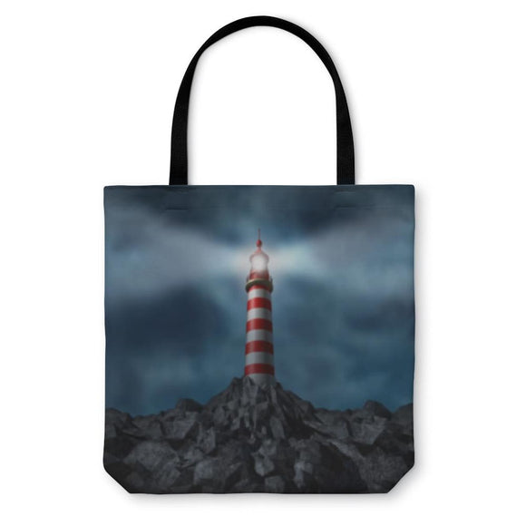 Tote Bag Lighthouse Clearing The Path - Tote Bag