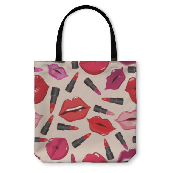 Tote Bag Pattern Print Of Lips - Tote Bag