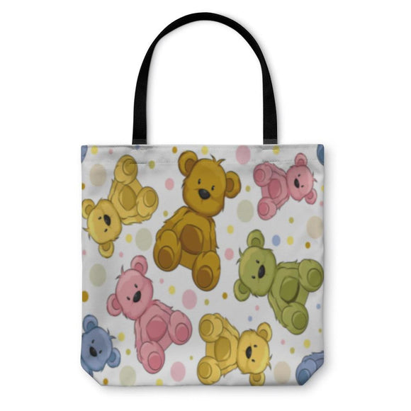 Tote Bag Seamless Teddy Bears - Tote Bag