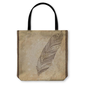 Tote Bag Tribal Feather W/swirl - Tote Bag