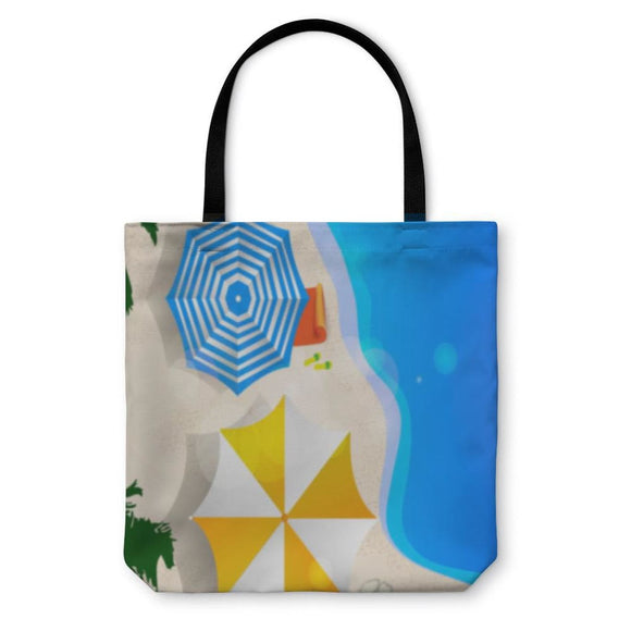 Tote Bag Umbrellas On The Beach - Tote Bag