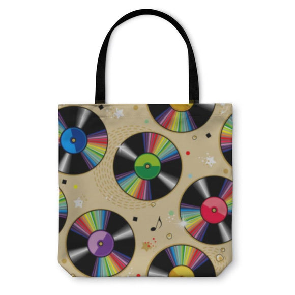 Tote Bag Vinyl Records Pattern - Tote Bag