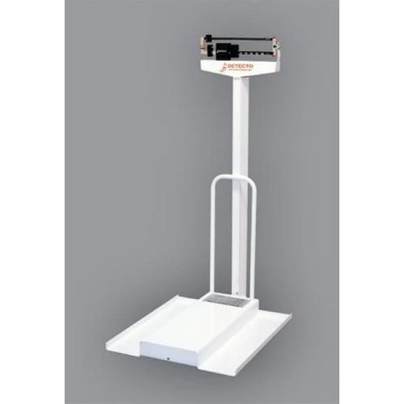 Wheelchair Scale With Ramp (Kgs.) Detecto #4851 - Wheelchair Scales