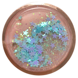 Blue Stars Rose Gold Liquid Glitter