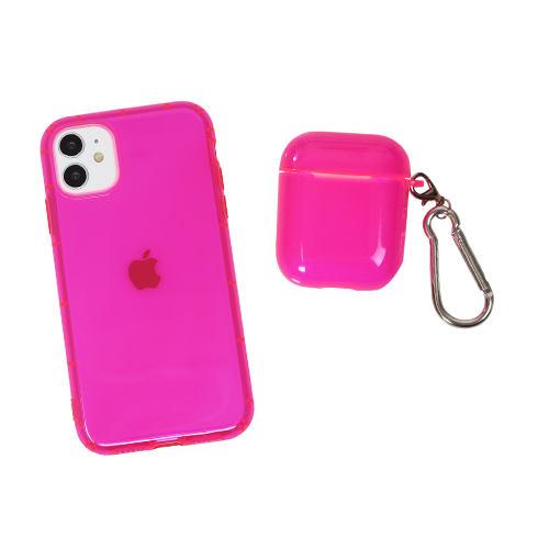 Neon Pink AirPods Case