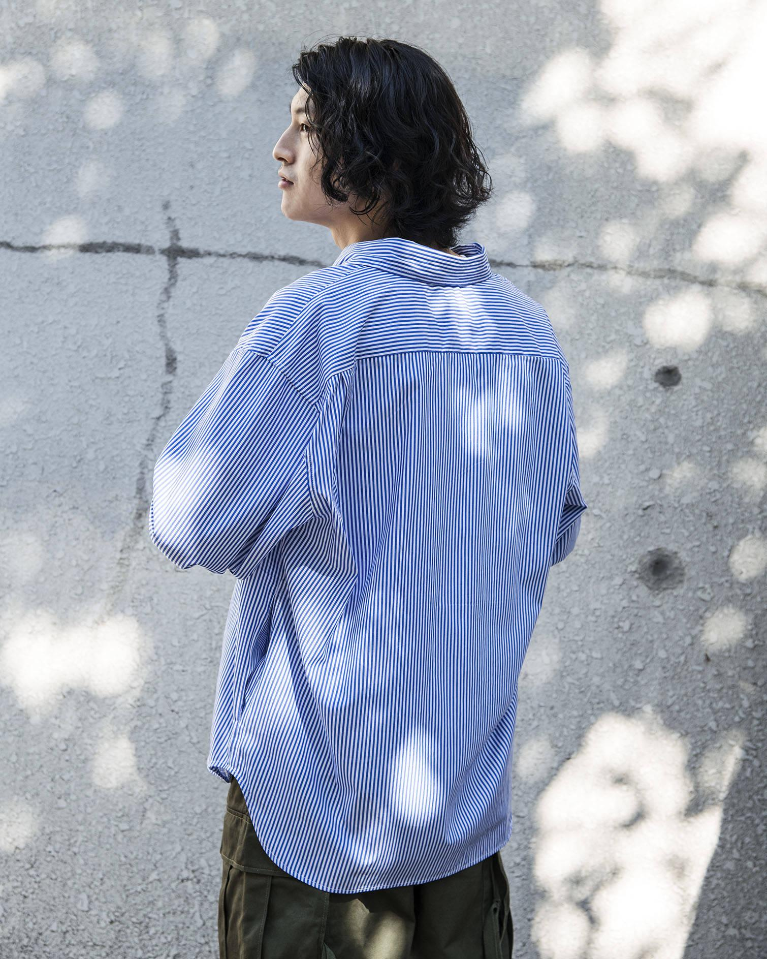 OVERSIZED SHIRT - BLUE & WHITE