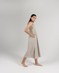 THE CALA SLIP DRESS - BONE