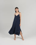 THE CALA SLIP DRESS - NAVY