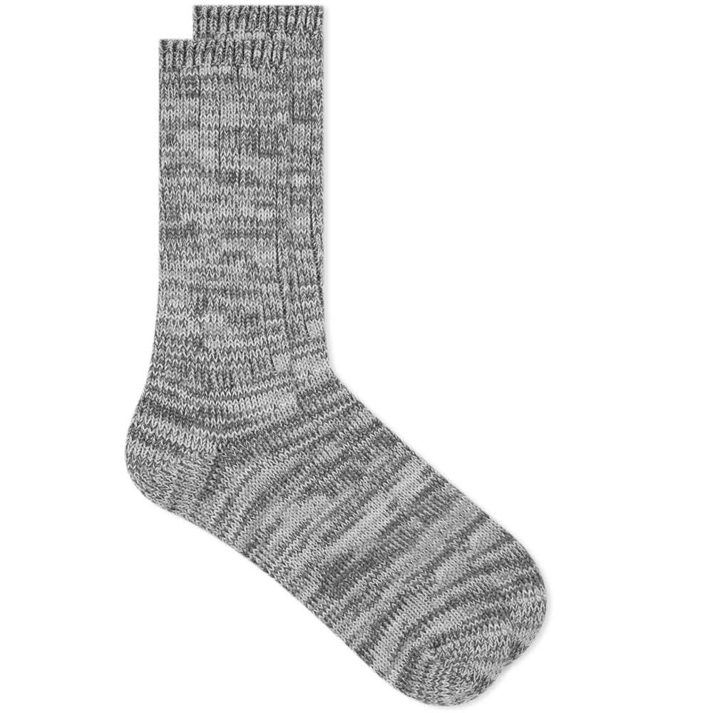 5 COLOR MIX CREW SOCK - GREY