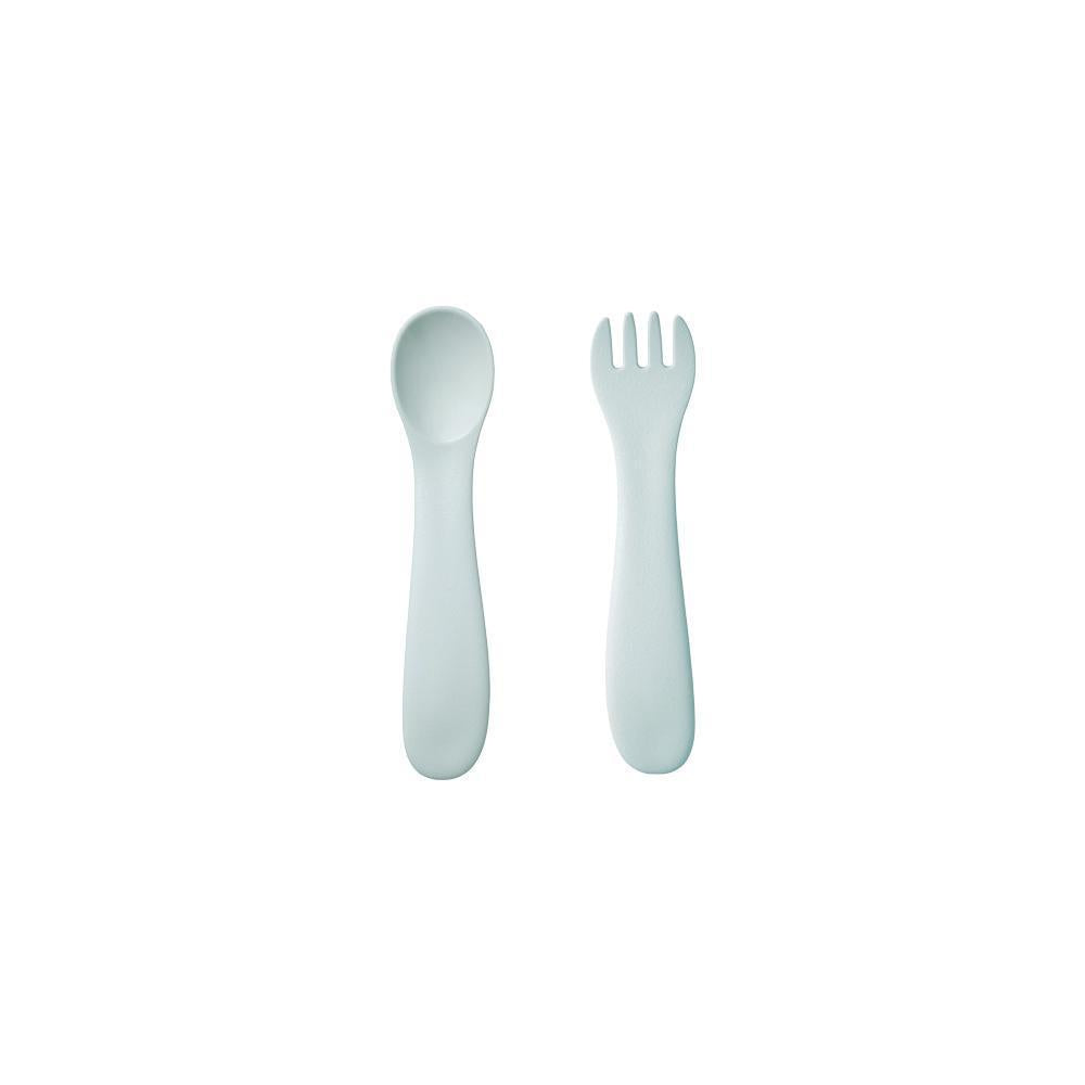 BONBO SPOON & FORK - BLUE GREY