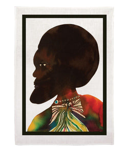 CHRIS OFILI, AFROMUSES COUPLE (Man) TEA TOWEL