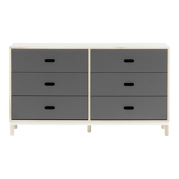 KABINO 6 DRAWER DRESSER - GREY