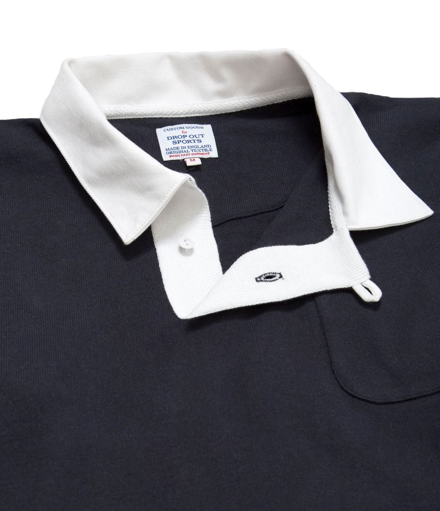 DROP OUT SPORTS RUGBY SHIRT - NAVY