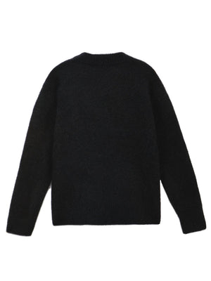 OVERSIZE MOHAIR SWEATER - BLACK