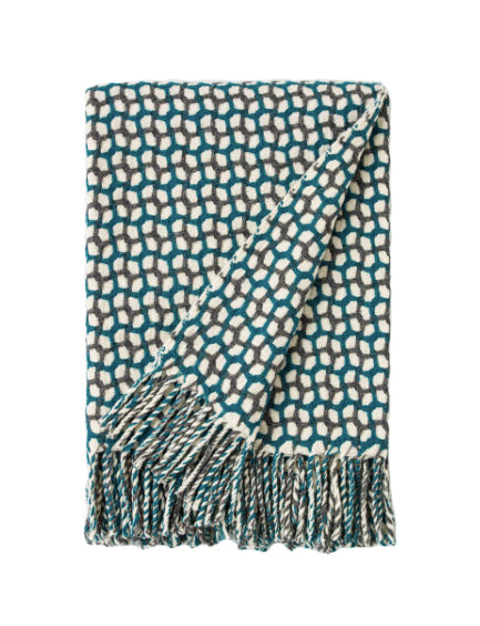 GATHERING THROW - DARK GREY AND TEAL