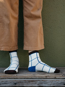 WINDOPANE SOCK - NIPPON BLUE