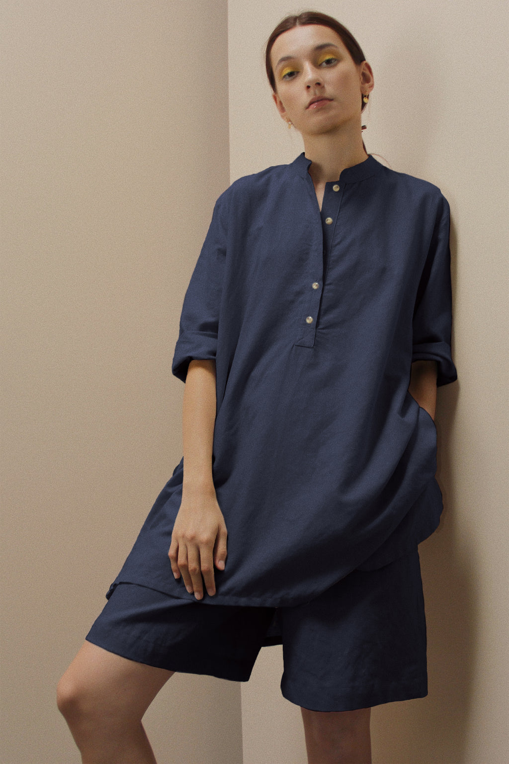 THE EASY TUNIC - NAVY - EXCLUSIVE FOR L&H