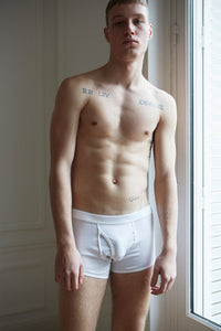 ELM SHORT BOXER BRIEF - WHITE