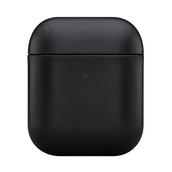 LEATHER CASE FOR EARPODS - BLACK