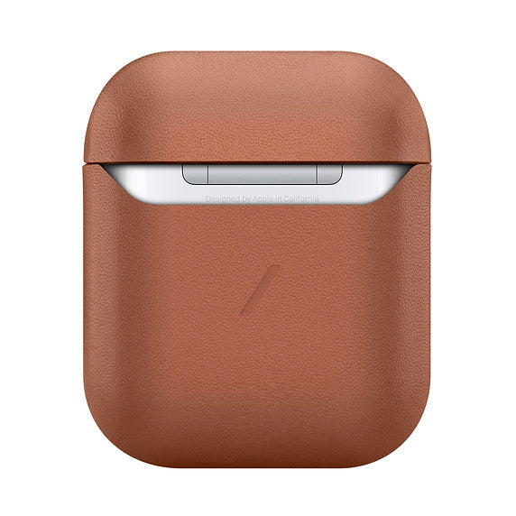 LEATHER CASE FOR EARPODS - BROWN