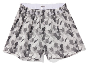 ORGANIC COTTON BOXER - DIGITAL CAMO - WHITE