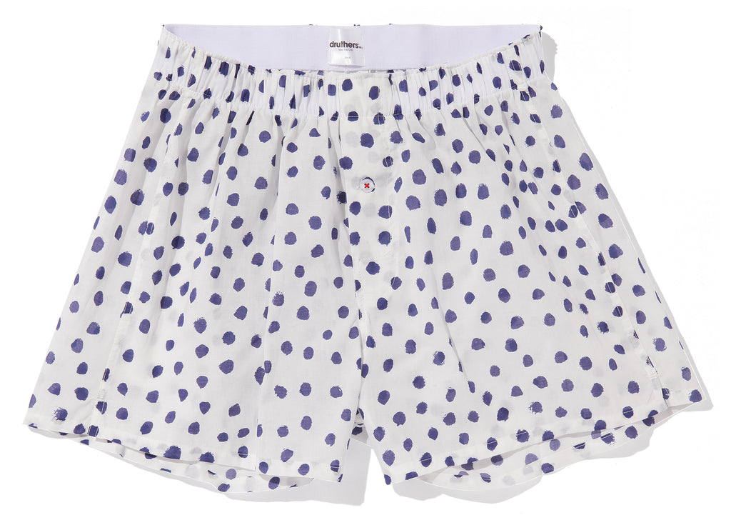 ORGANIC COTTON BOXER - MARKER DOTS - WHITE