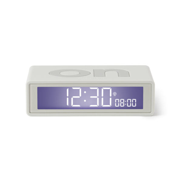 FLIP + ALARM CLOCK - WHITE