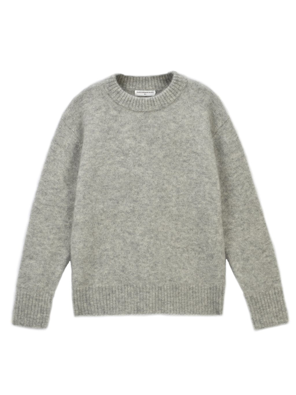 OVERSIZE MOHAIR SWEATER - LIGHT GREY