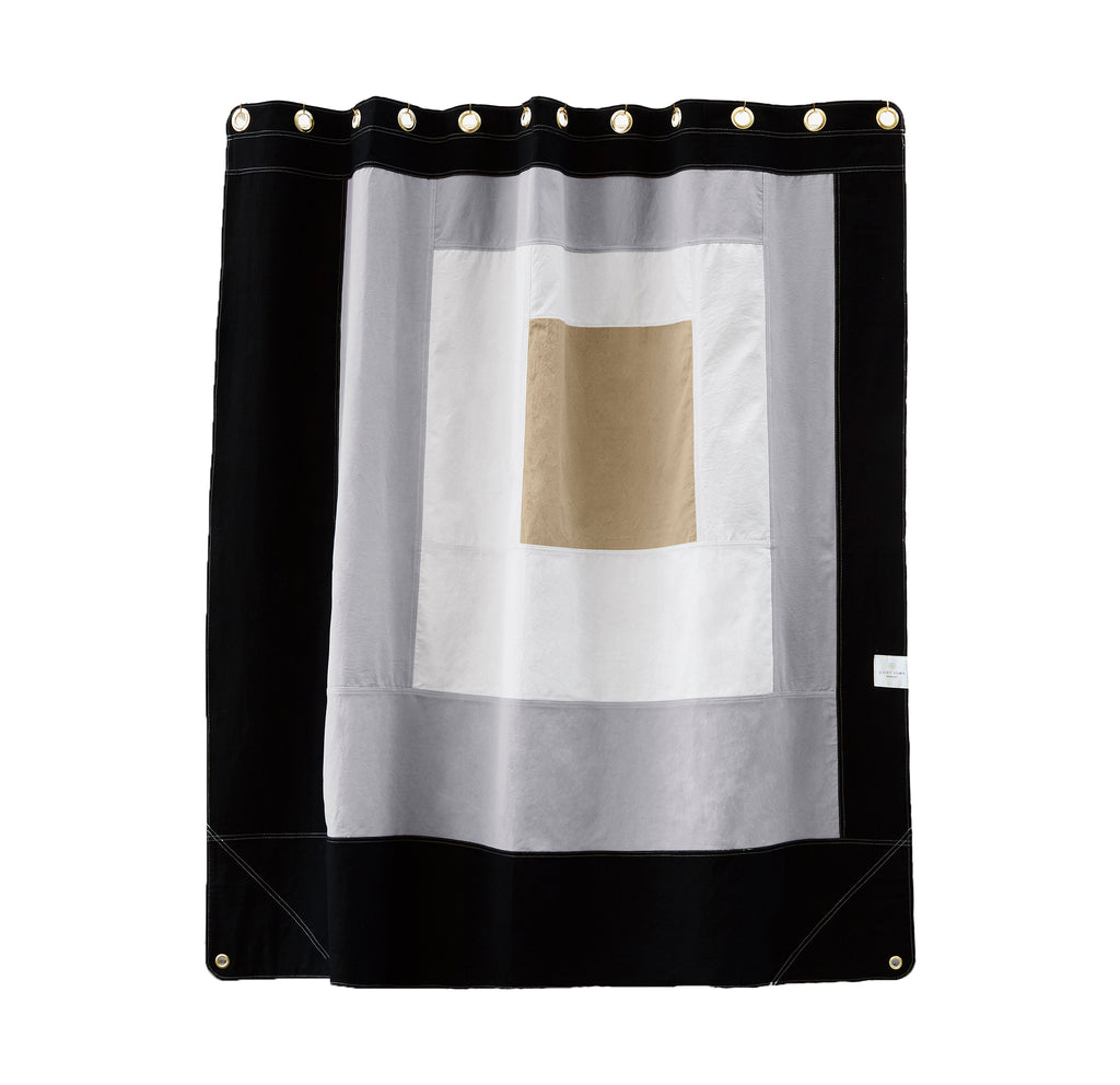 CANVAS SHOWER CURTAIN - MARFA NIGHT RIDER