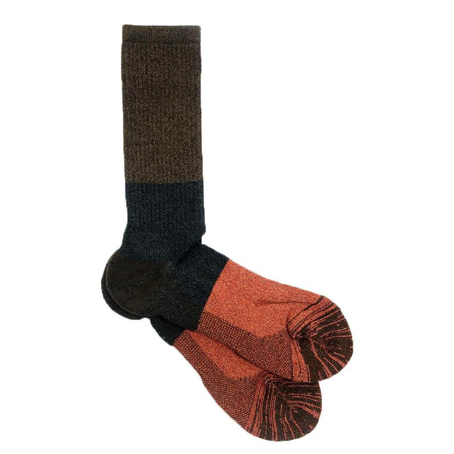 MOC PILE CREW SOCK - BROWN